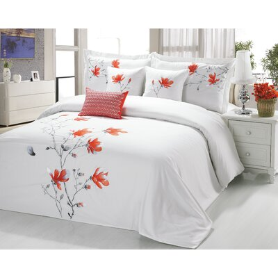 Sandra Venditti 6 Piece Comforter Set Size: Queen