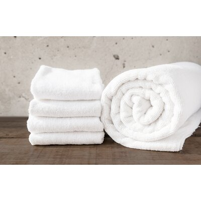 W Home Bamboo Spa Bath Towel Color: White