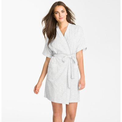 Studio 707 Micro Fleece Bathrobe Color: White