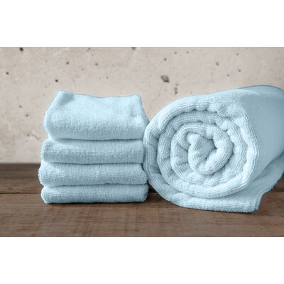 W Home Rayon from Bamboo Spa Hand Towel Color: Glacier Blue