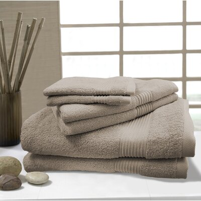 W Home 6 Piece Rayon from Bamboo Spa Towel Set Color: Taupe
