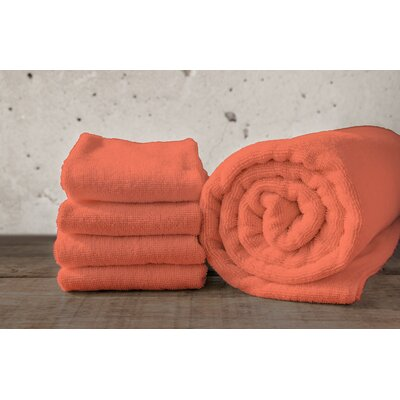 W Home Bamboo Spa Bath Sheet Color: Coral