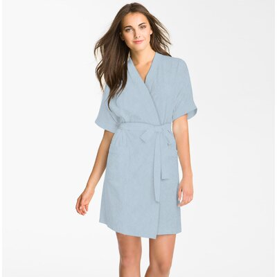 Studio 707 Micro Fleece Bathrobe Color: Blue