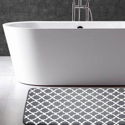 Adrien Lewis Flannel Memory Foam Bath Rug Color: Charcoal
