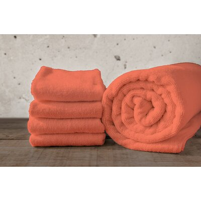 W Home Rayon from Bamboo Spa Hand Towel Color: Coral