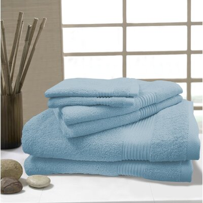 W Home 6 Piece Rayon from Bamboo Spa Towel Set Color: Glacier Blue