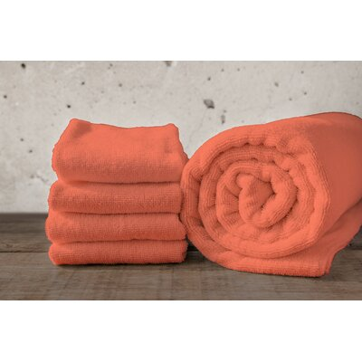 W Home Rayon from Bamboo Spa Bath Towel Color: Coral