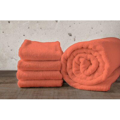 W Home Bamboo Spa Washcloth Color: Coral