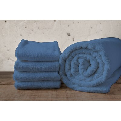 W Home Bamboo Spa Bath Towel Color: Denim