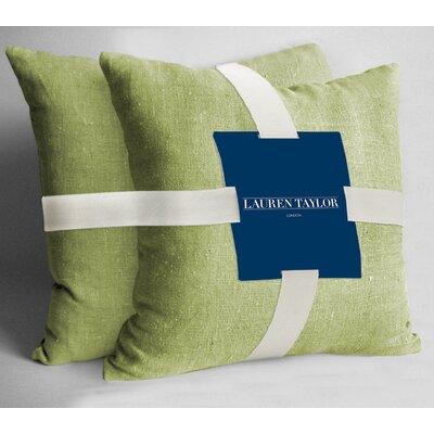 Lauren Taylor Throw Pillow Color: Celery