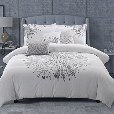Boyce Embroidered 6 Piece Comforter Set Size: Queen