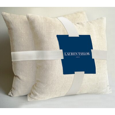 Lauren Taylor Throw Pillow Color: Off White