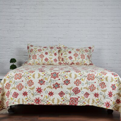 Robin Printed 3 Piece Quilt Set Size: Full/Queen