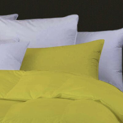 Boyce Feather Standard Pillow Color: Yellow