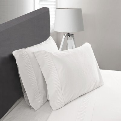 Carnside Pleated Sheet Set Size: Twin, Color: White