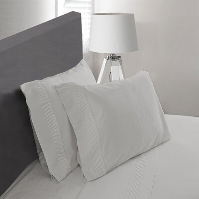 Carnside Pleated Sheet Set Size: King, Color: Gray