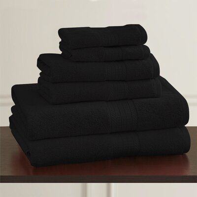 W Home Rayon from Bamboo Spa Hand Towel Color: Black
