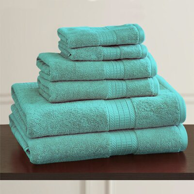 W Home Rayon from Bamboo Spa Washcloth Color: Teal