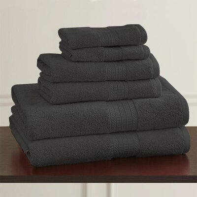 W Home Rayon from Bamboo Spa Bath Towel Color: Charcoal