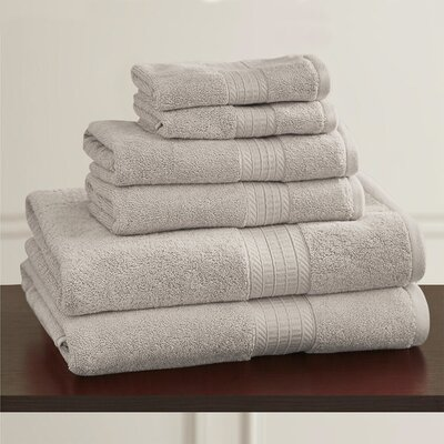 W Home Rayon from Bamboo Spa Hand Towel Color: Stone