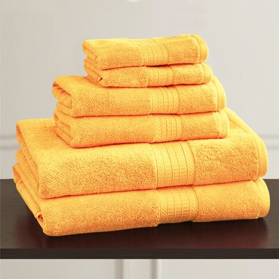 W Home Rayon from Bamboo Spa Washcloth Color: Buttercup