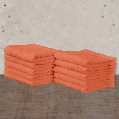 W Home Rayon from Bamboo Spa Washcloth Color: Coral