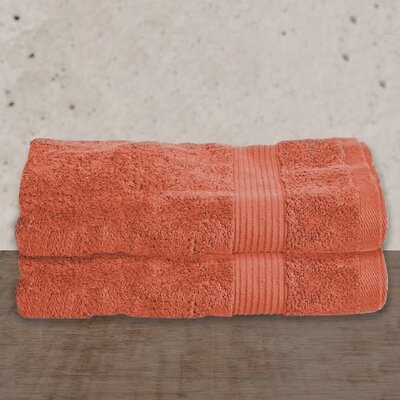 W Home Rayon from Bamboo Spa Bath Sheet Color: Coral