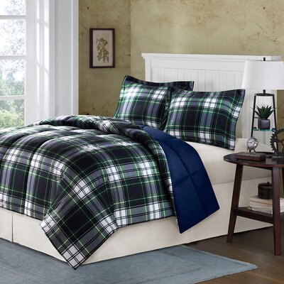 Parkston Mini in Navy & Plaid Comforter Set Size: King / California King