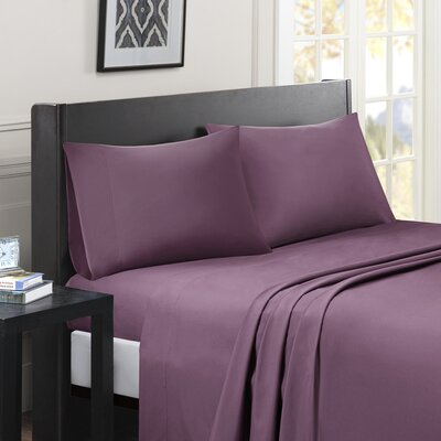 Calderwood Solid Sheet Set Size: King, Color: Purple