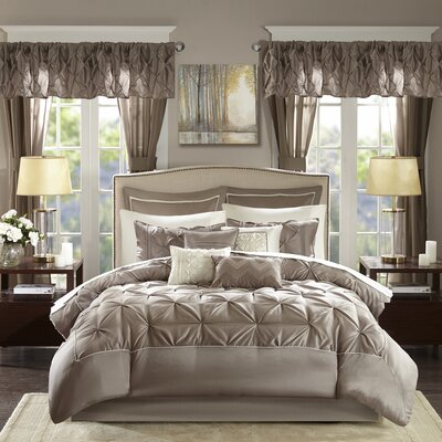 Conrad 24 Piece Bed-In-a-Bag Set Size: Queen, Color: Taupe