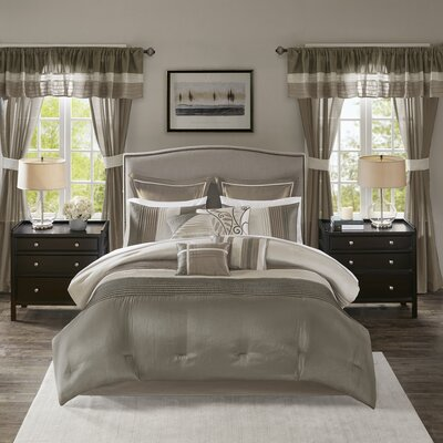 Alton 24 Piece Room Size: California King, Color: Natural
