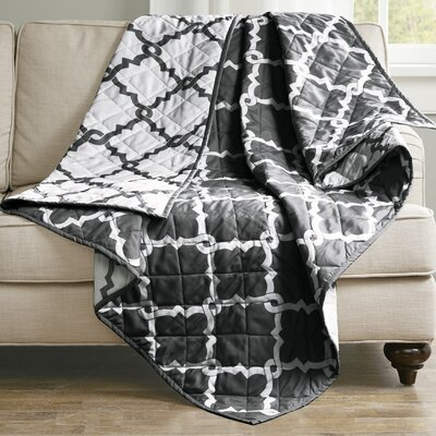 Anawalt Reversible Quilted Throw Color: Black