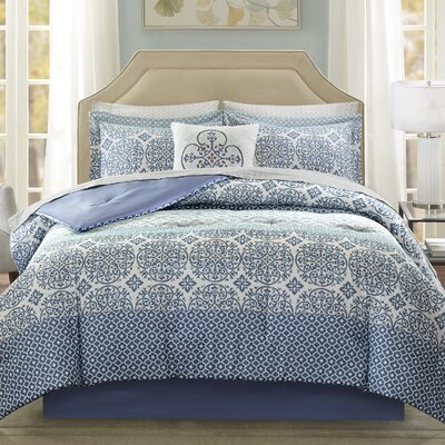 Wedgewood Comforter Set Size: Twin, Color: Blue