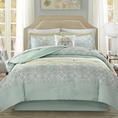 Wedgewood Comforter Set Size: Full, Color: Green