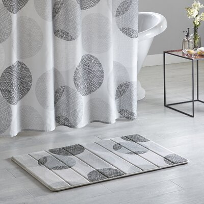 Waveside Reversible Memory Foam Bath Rug Size: 24 L x 40 W