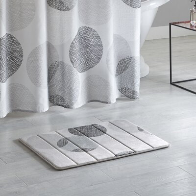 Waveside Reversible Memory Foam Bath Rug Size: 20 L x 30 W