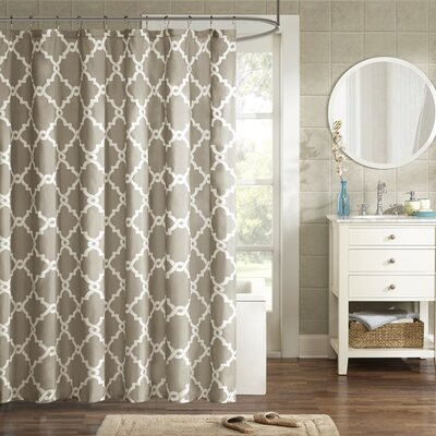 Winard Microfiber Shower Curtain Color: Taupe, Size: 96 H x 72 W