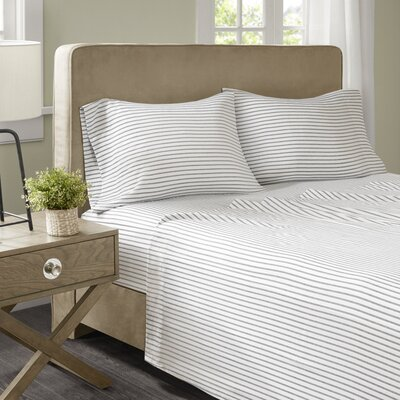 Geza Microfiber Sheet Set Size: Cal King, Color: Gray