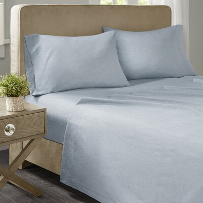 Geza Modern Microfiber Sheet Set Size: Twin, Color: Blue
