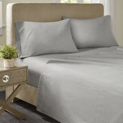 Geza Modern Microfiber Sheet Set Size: Full, Color: Gray