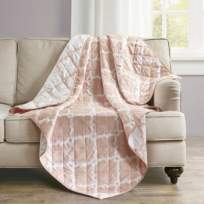 Anawalt Reversible Quilted Throw Color: Blush