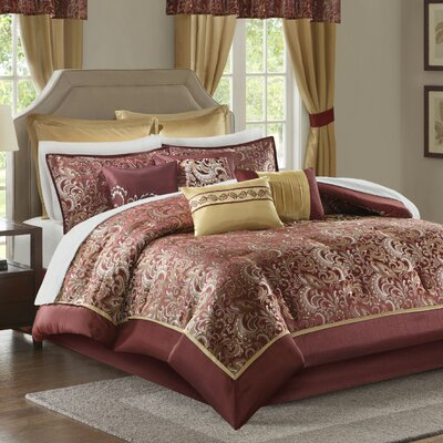Wightmans 24 Piece Bed in a Bag Size: Queen, Color: Red