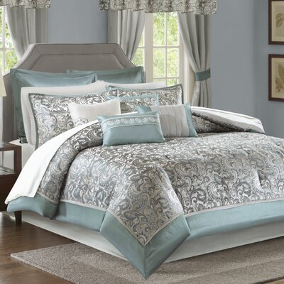 Wightmans 24 Piece Bed in a Bag Size: California King, Color: Teal