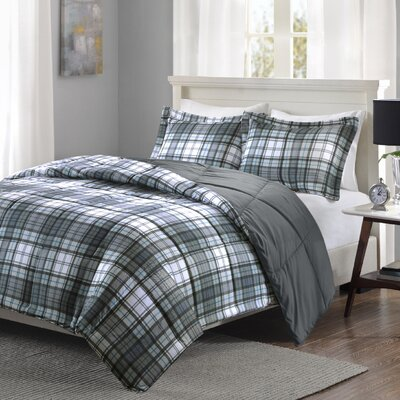 Aloysius Comforter Set Size: Twin/Twin XL, Color: Gray