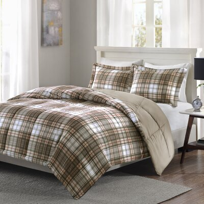 Aloysius Comforter Set Size: King/California King, Color: Tan