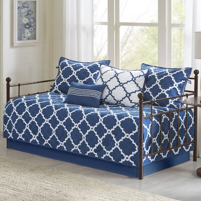 Winard 6 Piece Reversible Daybed Set Color: Navy