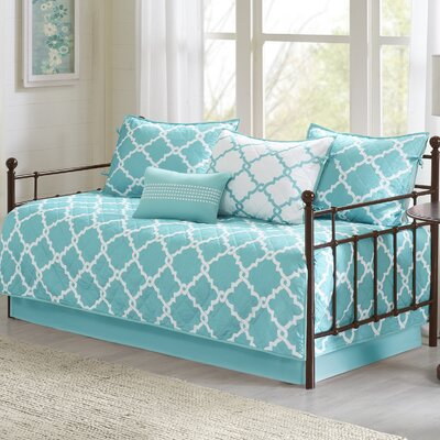 Winard 6 Piece Reversible Daybed Set Color: Aqua
