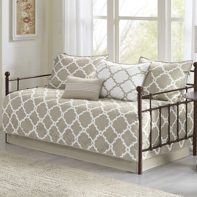 Winard 6 Piece Reversible Daybed Set Color: Taupe