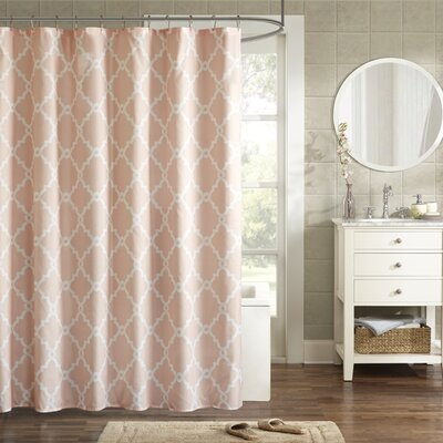 Alta Microfiber Shower Curtain Color: Blush, Size: 72 H x 72 W