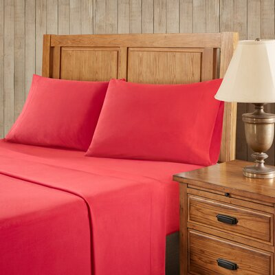 Franck Softspun Solid Sheet Set Size: Twin, Color: Red